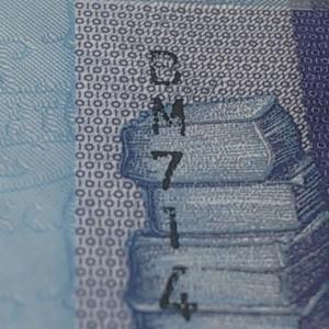 Очень плохо пропечатанный номер у 10 рублей 2009 года